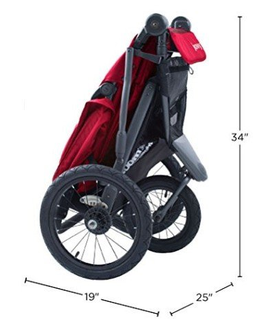 Joovy Zoom 360 Ultralight - Folded stroller
