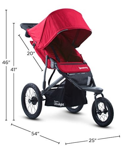 Joovy Zoom 360 Ultralight - Stroller dimensions