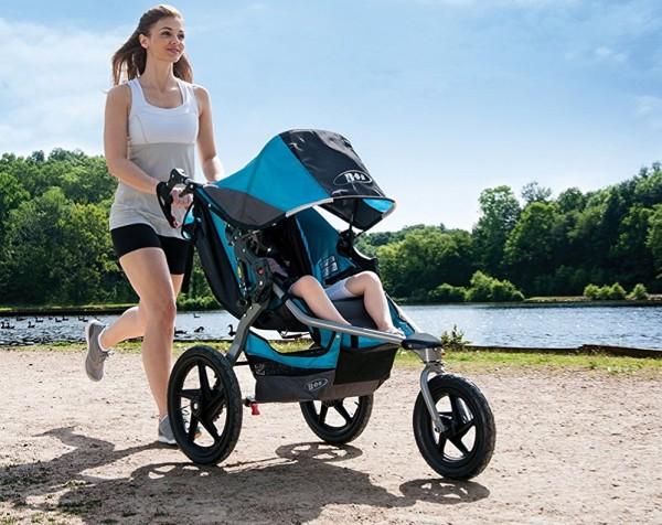 BOB Revolution Flex suspension soaks up bumps and provides smooth ride