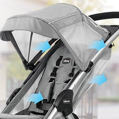 Chicco Mini Bravo - Ventilated canopy and seat