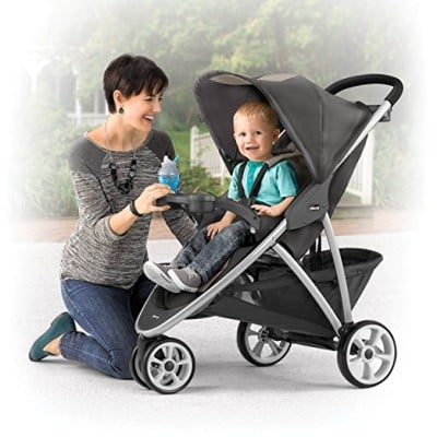 Chicco Viaro Stroller has only decent canopy. Although it's very roomy, it doesn't extend far