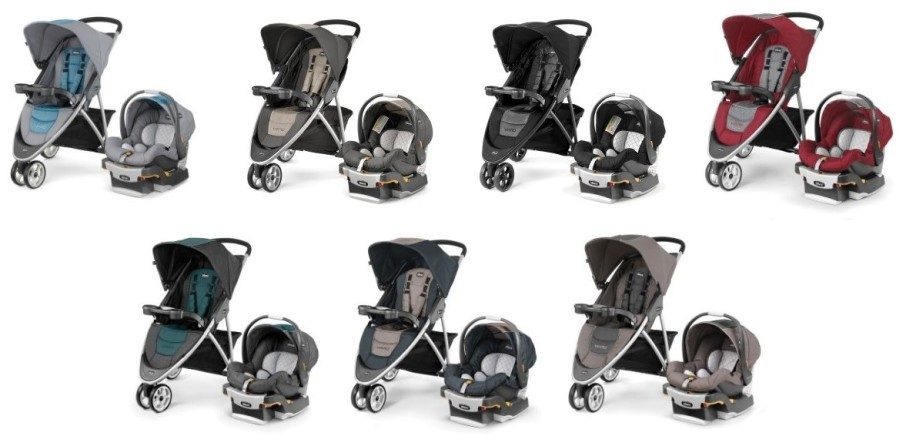 Chicco Viaro Travel System - Color versions