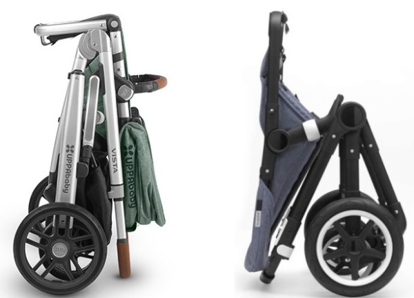 Bugaboo Fox vs UPPAbaby VISTA - Fold