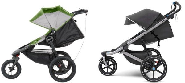 Comparison of canopies on Baby Jogger Summit X3 2016 and Thule Urban Glide 2 2018