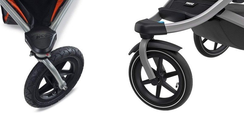 Front wheel - BOB Revolution PRO vs Thule Urban Glide 2