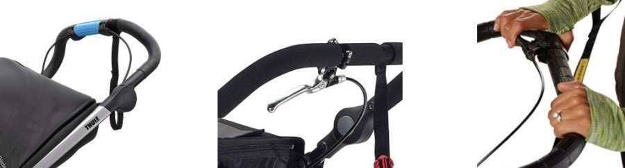 Handbrakes on Thule Urban Glide vs BOB Revolution PRO vs Baby Jogger Summit X3