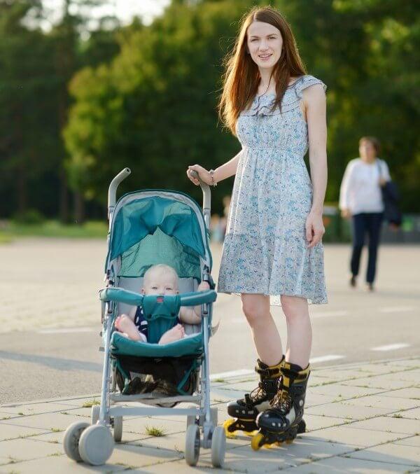 Stroller for rollerblading