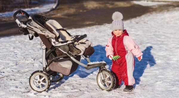 Roomy seat is a must have on stroller for winter