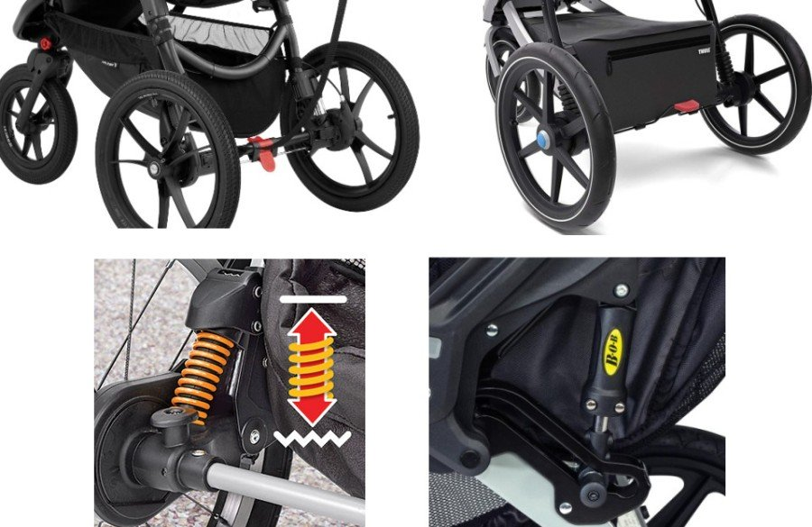 Suspension system comparison - Baby Jogger Summit X3 vs Thule Urban Glide 2 vs Chicco TRE vs BOB Revolution PRO