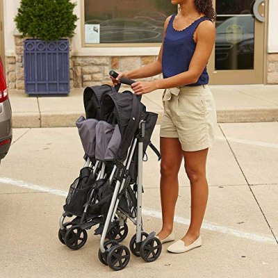 Evenflo Minno Twin Double Stroller - Compact umbrella-style fold