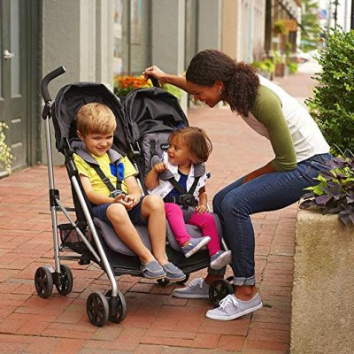 Evenflo Minno Twin Double Stroller - Lightweight stroller for city use