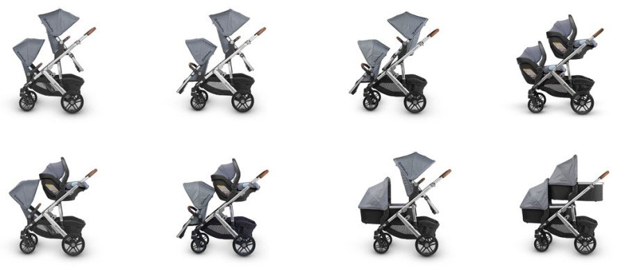 UPPAbaby VISTA - Seating configuration for two kids