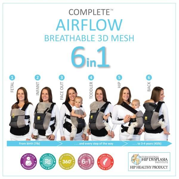 Lillebaby Complete Airflow - All carrying positions (One of the best baby carriers of 2019)