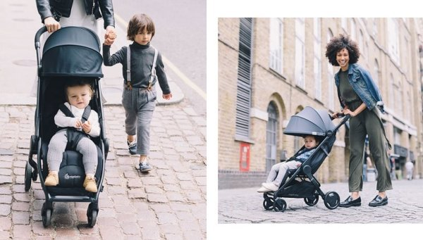 Ergobaby Metro Stroller can go over pavement, bricks and cobblestone