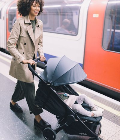 Ergobaby Metro offers deep recline and flip-up leg rest