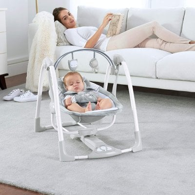Ingenuity Power Adapt Portable Swing - have a moment for yourself while your baby in napping in a safe space