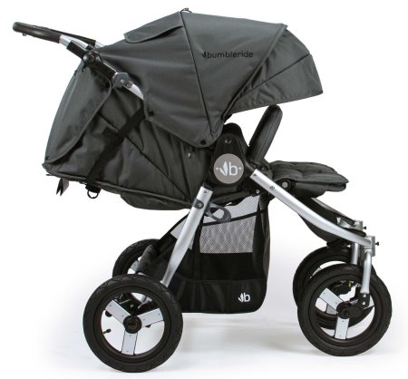 Bumbleride Indie Twin Double Stroller - Full recline, infant-ready mode