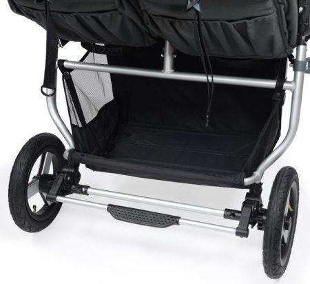Bumbleride Indie Twin Double Stroller - Large basket with wide opening