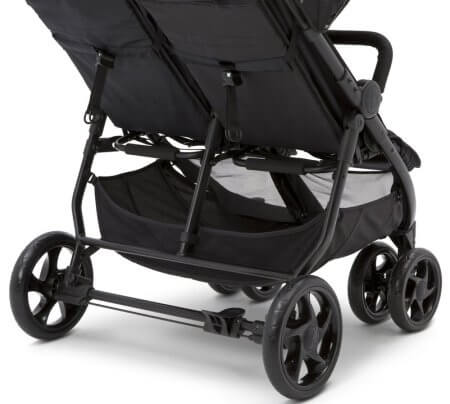 J is for Jeep Brand Destination Ultralight Side x Side Double Stroller - Wheels & basket