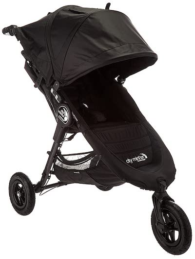 Baby Jogger City Mini GT - 3-wheel all-terrain stroller for snow (One of the best strollers for snow)