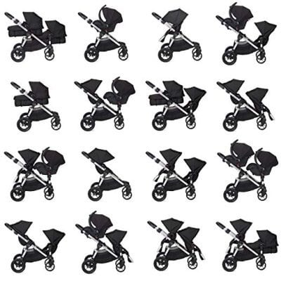 Baby Jogger City Select - Main seating configurations