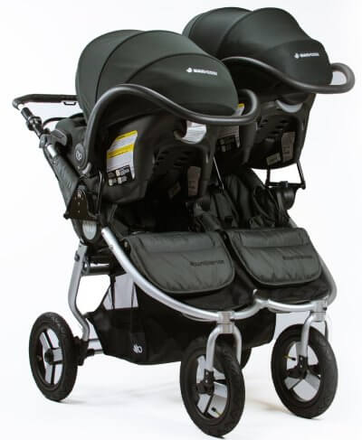 Bumbleride Indie Twin - Accepts two infant car seats