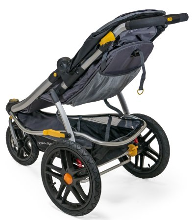 Burley Solstice Jogger is equipped with large cargo basket and reclining seat