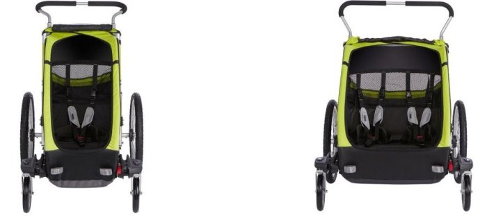 Comparison of a single and double version of Thule Chariot Cheetah XT