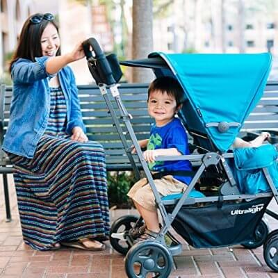 Joovy Caboose Too Ultralight - Sit and Stand Stroller for infant and older child