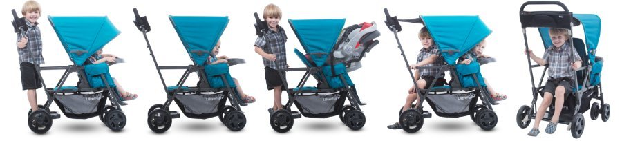 Joovy Caboose Ultralight - Seating options for infant and toddler