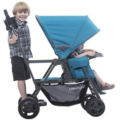 Joovy Caboose Ultralight - With a standard seat, bench seat and standing platform (One of the best double strollers for infant and toddler 2019)