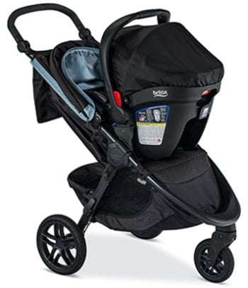 Britax B-Free Travel System with B-Safe Ultra