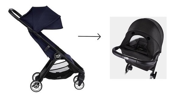 Baby Jogger City Tour 2 - extendable canopy with peek-a-boo window