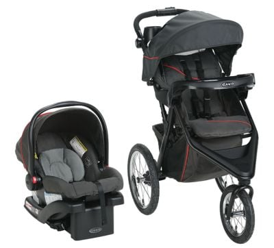 Graco Trax Jogger Travel System - one of the best travel systems for 2019 that include an all-terrain stroller