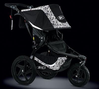 BOB Revolution Flex Lunar - Reflective Fabric makes this one of the best strollers for running in the evening