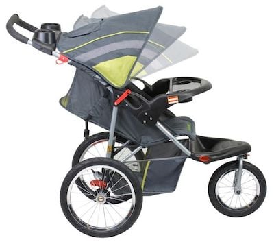 Baby Trend Expedition - Reclining seat and canopy that ratchets