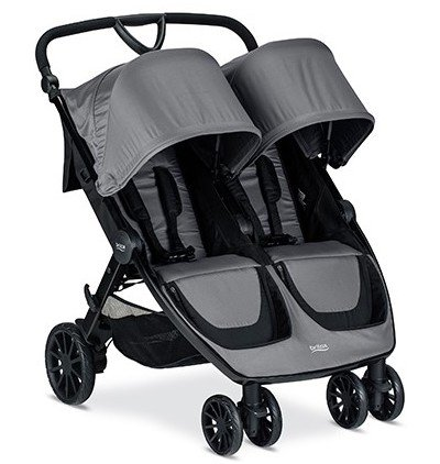 Britax B-Lively Double - with large canopies, specious and easily accessible basket and adjustable handlebar