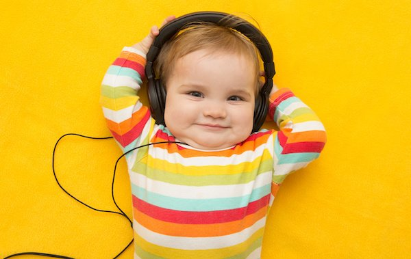 Does sound of music have the same effect for the baby as the act of singing?
