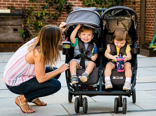ZOE XL2 Best Double Stroller - Weighs only 19 pounds