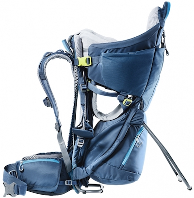 Deuter Kid Comfort Hiking Carrier has lots of adjustments for the parent and child