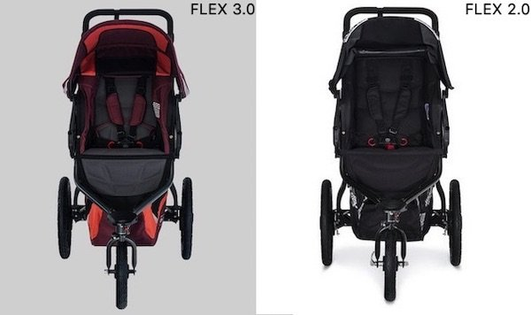BOB Revolution FLEX 3.0 has more padding on the seat than FLEX 2.0