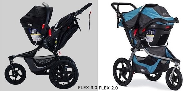 BOB Revolution FLEX 3.0 vs 2.0 - Both jogging strollers can be turned into travel system