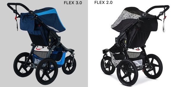 BOB Revolution FLEX 3.0 vs 2.0 - Suspension, wheels and storage space
