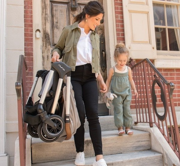 Nuna Triv is fairly lightweight and easy to carry