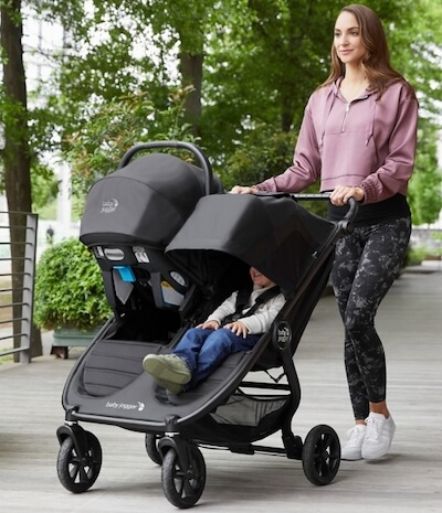 Baby Jogger City Mini GT2 Double - Upgraded stroller for 2020 works with 1 infant car seat