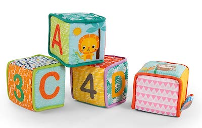 Bright Starts Grab & Stack Soft Blocks Toy