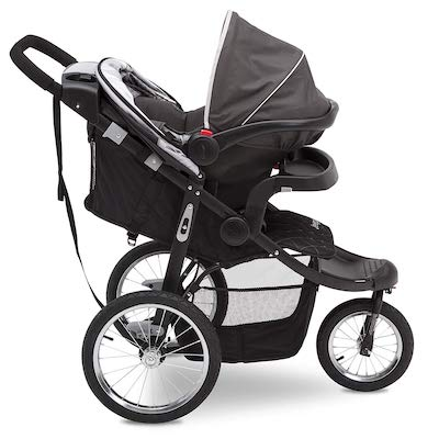 Jeep Deluxe Patriot Open Trails Jogger with infant car seat