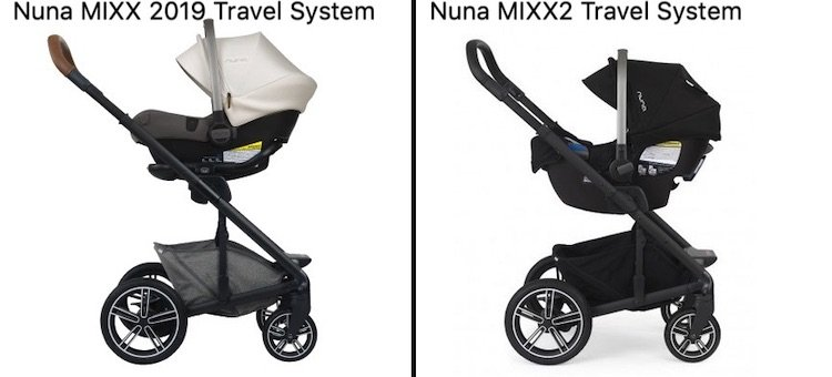 Nuna MIXX 2019 and MIXX2 Travel System (different adapters)