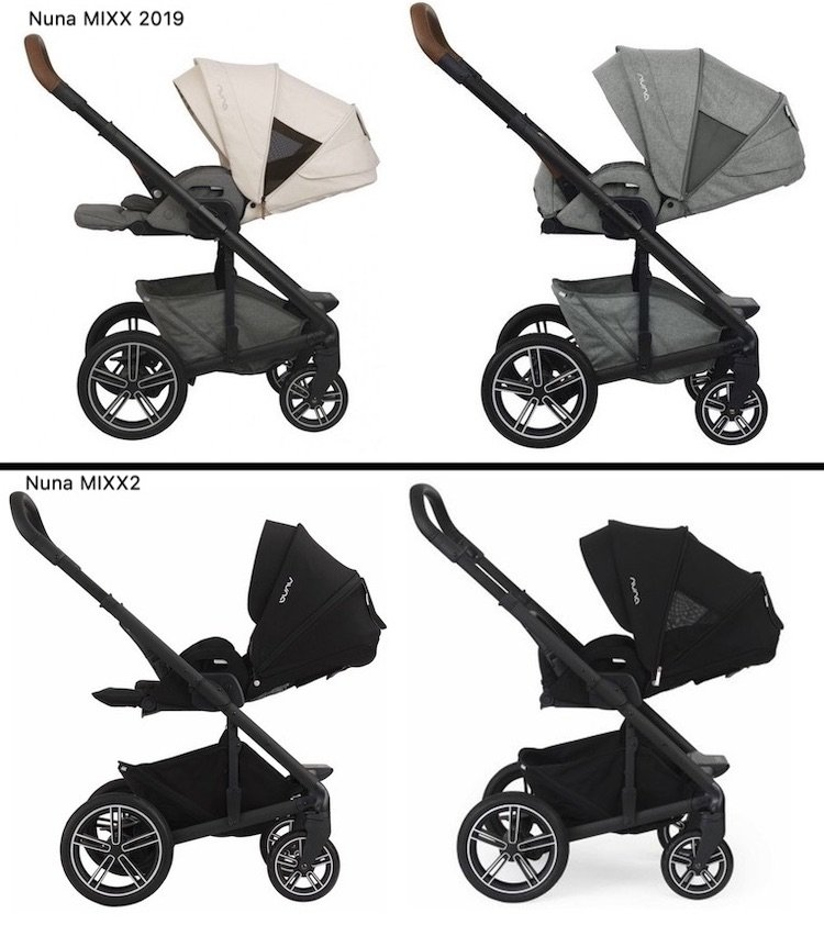 Nuna MIXX 2019 vs MIXX2 - Full recline and newborn mode
