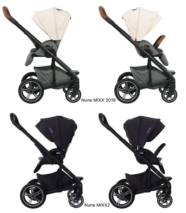 Nuna MIXX 2019 vs MIXX2 - Reversible Seat